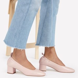 EVERLANE Leather Day Heels (Pale Rose)